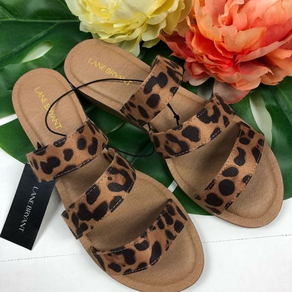 Lane Bryant Triple Strap Wedge Sandals